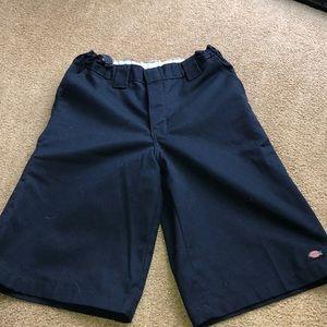 Dickies Bottoms - 2 pairs - Black and navy blue boys Dickies shorts